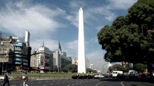 Viernes algo nublado y con máxima de 20 grados en la ciudad de Buenos Aires y alrededores