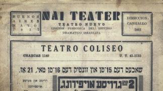 Publicación del Teatro Nuevo de 1937