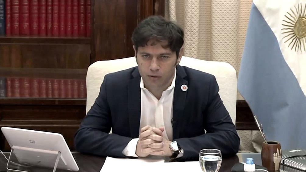 Kicillof hará los anuncios en la casa de Gobierno provincial, en La Plata, a partir de las 10.