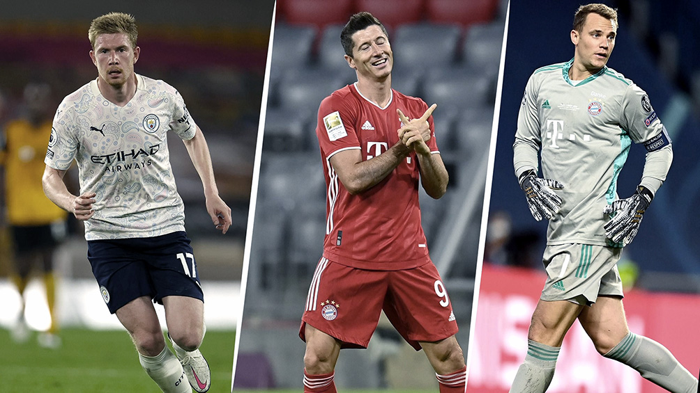 Messi, detrás de De Bruyne, Lewandowski y Neuer para el premio anual UEFA