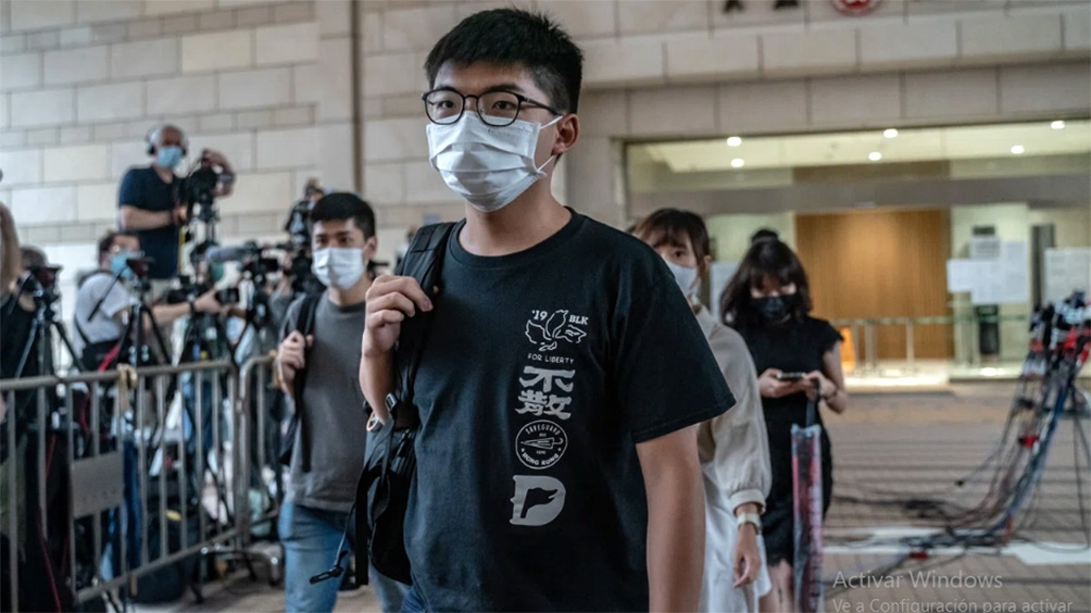 Joshua Wong, figura emblemática del movimiento prodemocracia.