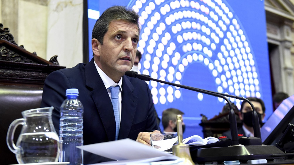 Sergio Massa, presidente de la Cámara de Diputados.