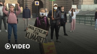 """Greta Thunberg pide """"aumentar la presión"""" a los responsables para que actúen por el clima"""