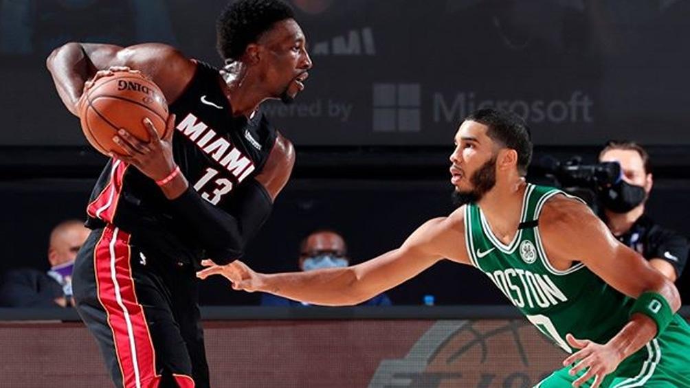 Boston venció a Miami, en un durísimo duelo y forzó un sexto partido en la final del Este de la NBA (foto: IG NBA Latam)