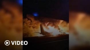Ucrania: suben a 26 los muertos al estrellarse avión militar