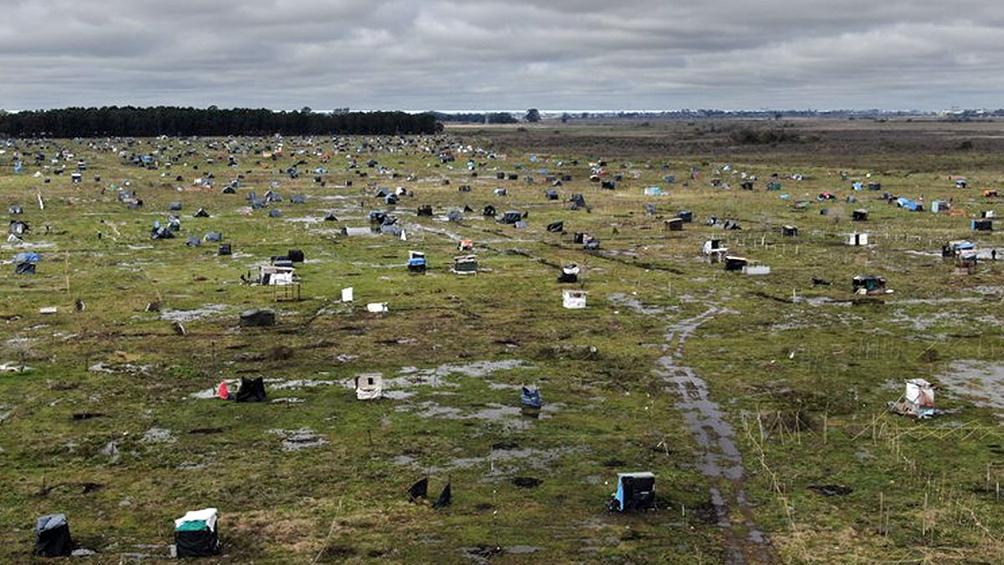Los terrenos reclamados por sus propietarios -unas 100 hectáreas- fueron ocupados en julio.