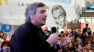 """Máximo Kirchner: """"El Gobierno está frente a un acoso mediático constante"""""""