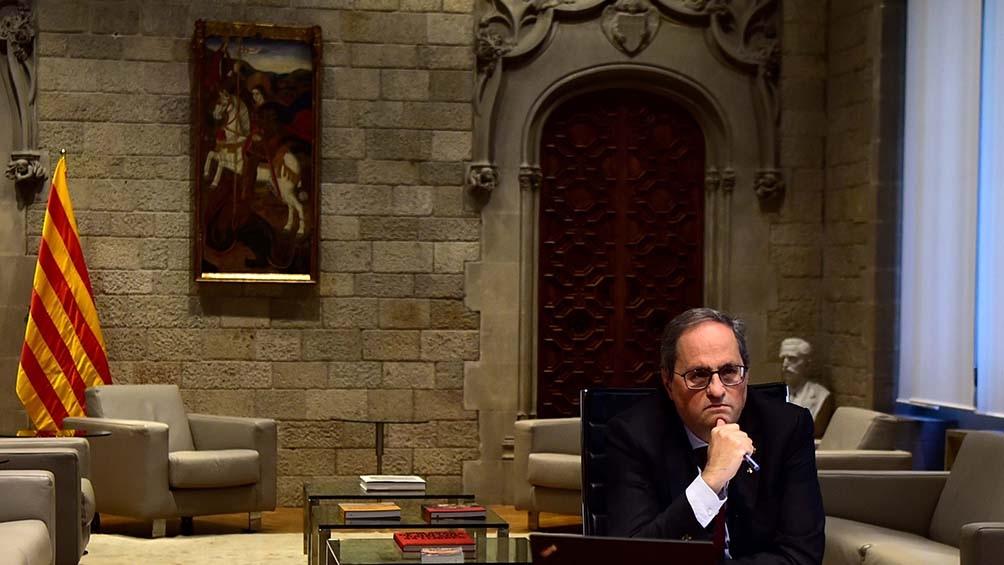 El Tribunal Supremo tomó una decisión inédita contra el presidente catalán.