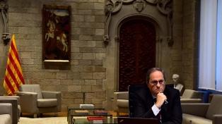 """Torra asume con duras críticas su inhabilitación y llama a una """"ruptura democrática"""" con España"""