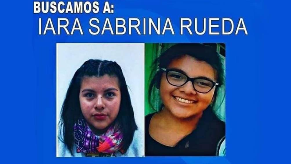 Iara Rueda, la joven de 16 años, era buscada por vecinos y familiares también por las redes sociales.