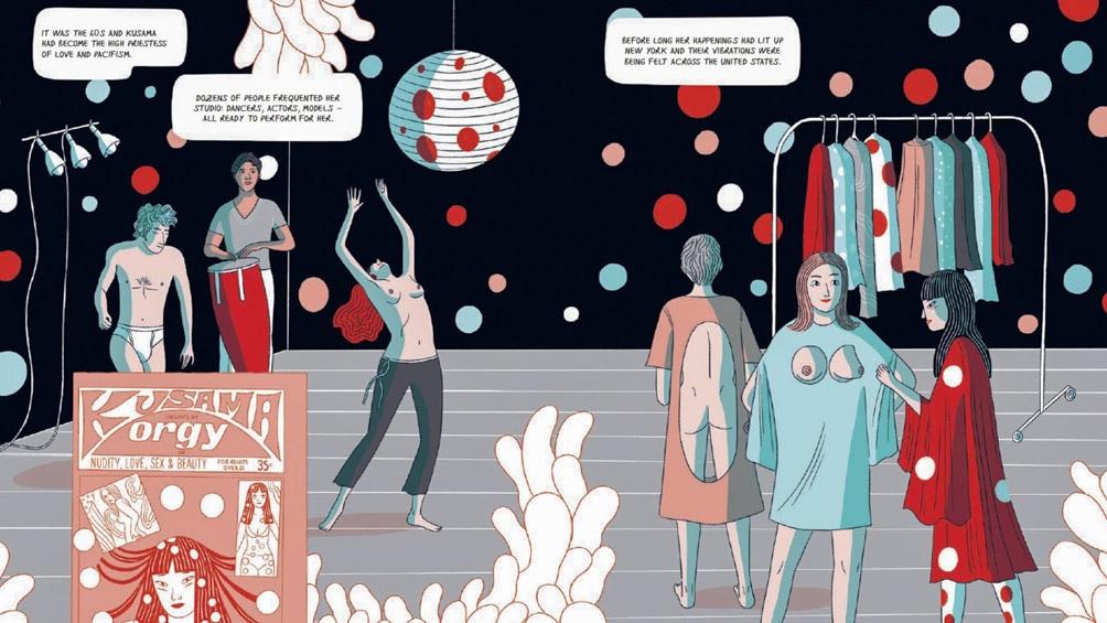 La dibujante italiana publicó una biografía ilustrada de la artista plástica japonesa