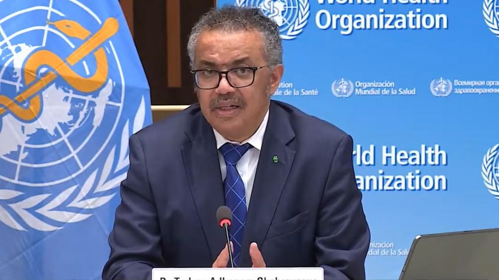 Director general de la OMS, Tedros Adhanom Ghebreysus