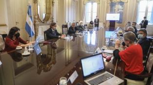 Alberto Fernández se reunió con infectólogos en la Casa Rosada