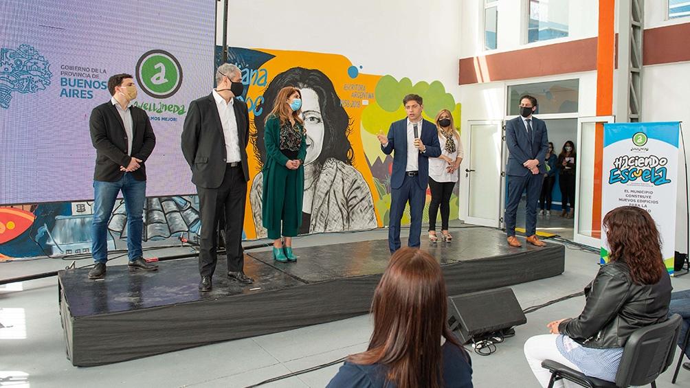 Participaron del acto el intendente Jorge Ferraresi, y la ministra de Educación provincial, Agustina Vila.