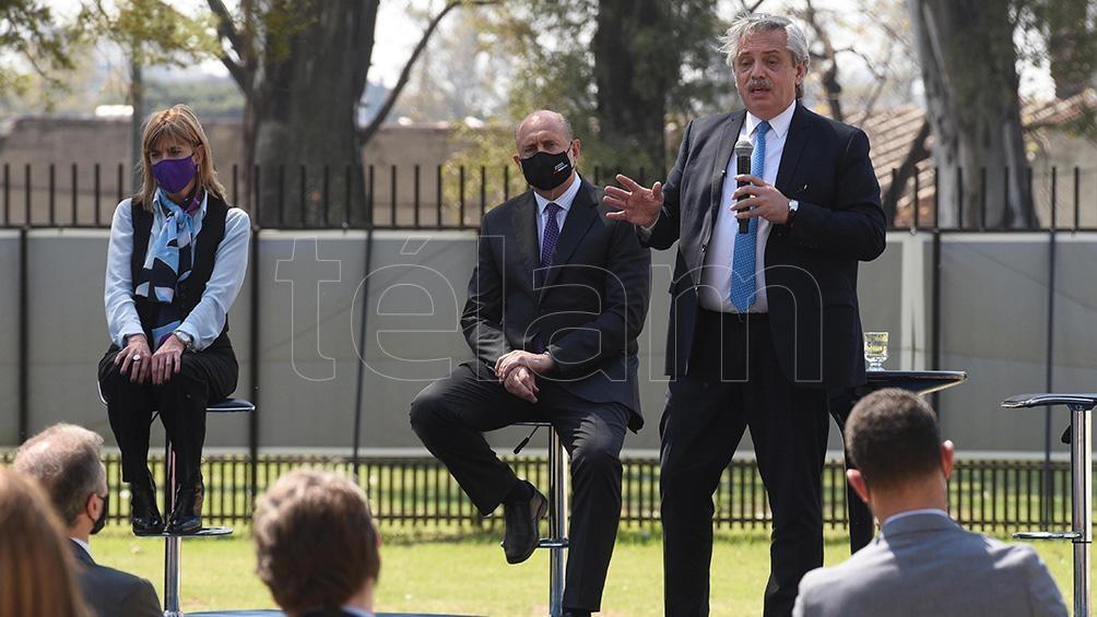 El presidente Alberto Fernández en la presentación de programa Detectar Federal en Rosario