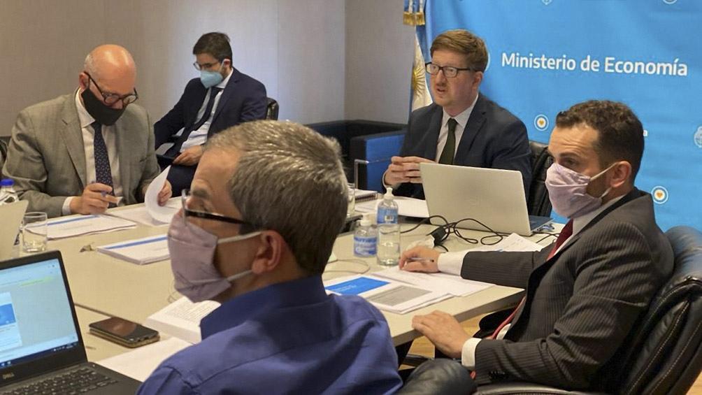 Haroldo Montagu expuso el proyecto de Presupuesto 2021en un plenario de la comisión de Presupuesto y Hacienda de Diputados.