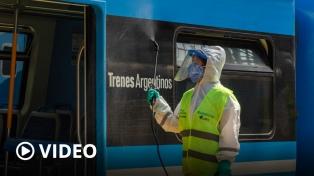 Aplican una nueva fórmula sanitizante en trenes del ferrocarril Mitre