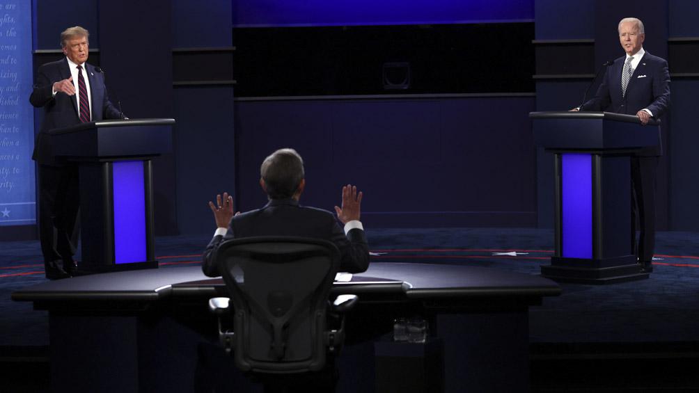 Entre gritos y mucha tensión, Trump y Biden se mostraron los dientes en el primer debate presidencial