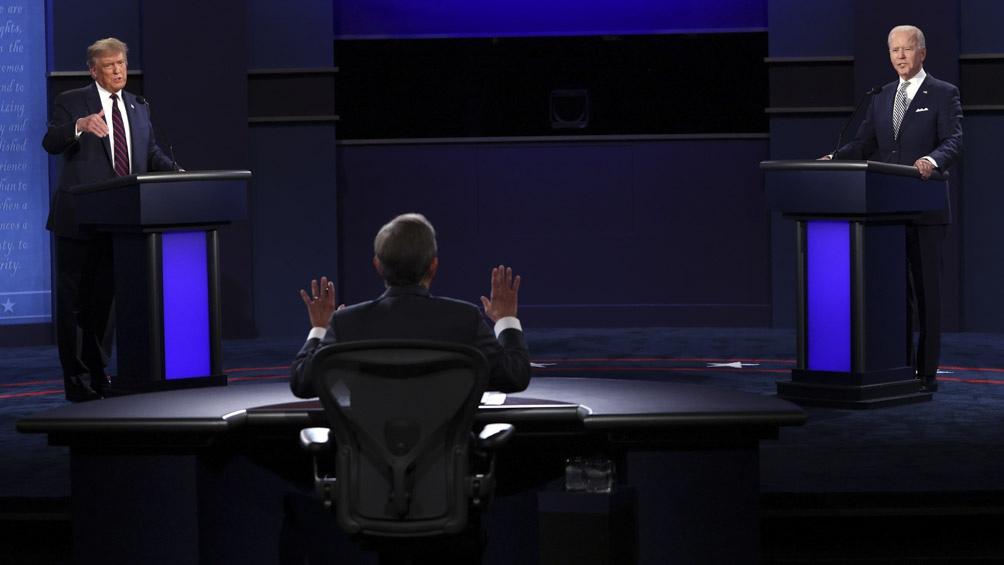 """""""No tiene un plan: ni para la pandemia ni para reabrir la economía"""", fue la muletilla repetida por Biden."""