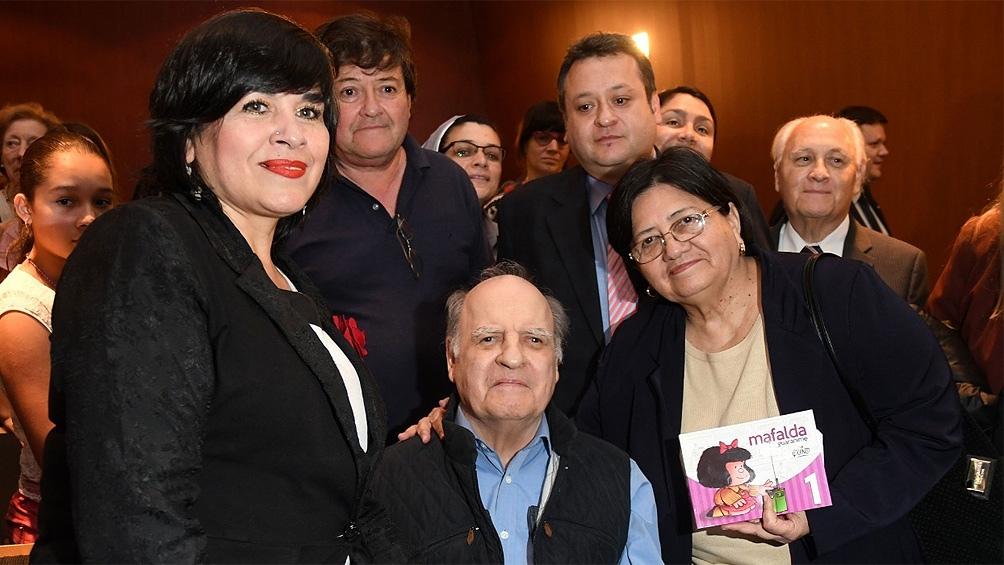 En 2017, en la presentación de dos tomos de Mafalda en lengua guaraní, lo que la convirtió en la primera traducción en un idioma originario.
