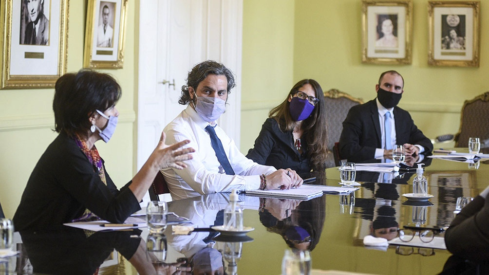 El Gabinete Económico se reunió hoy en Casa Rosada.