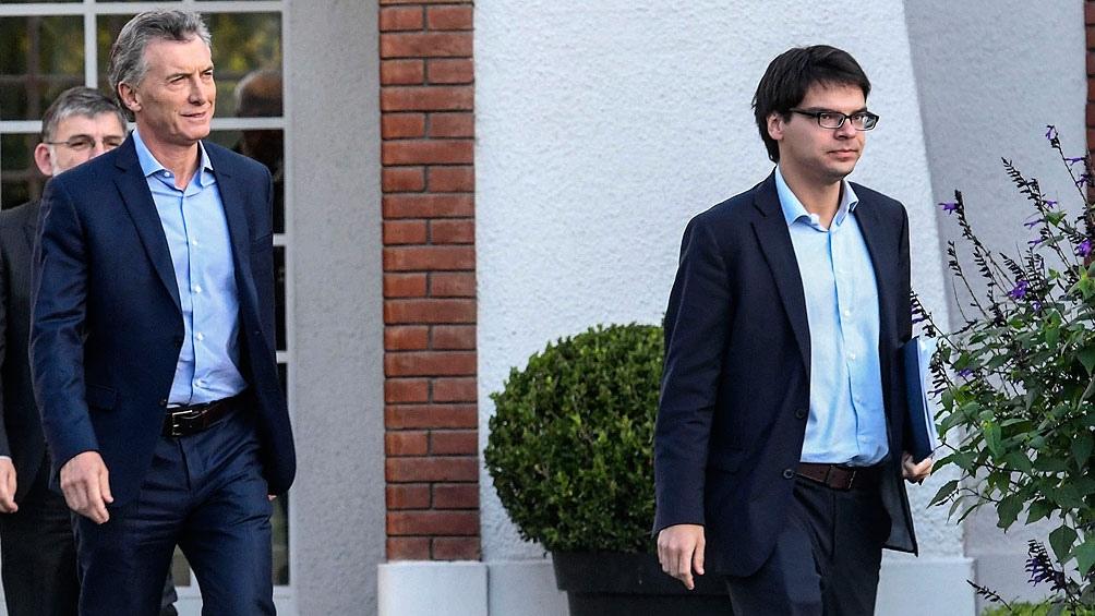 Mauricio Macri y Darío Nieto.