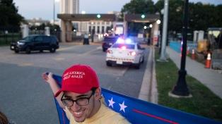 La temida marcha de simpatizantes de Trump terminó con poca gente y sin disturbios