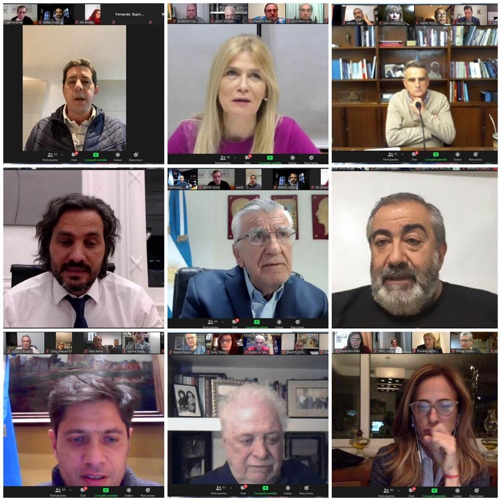 Reunión virtual del Consejo y la mesa de acción política del PJ