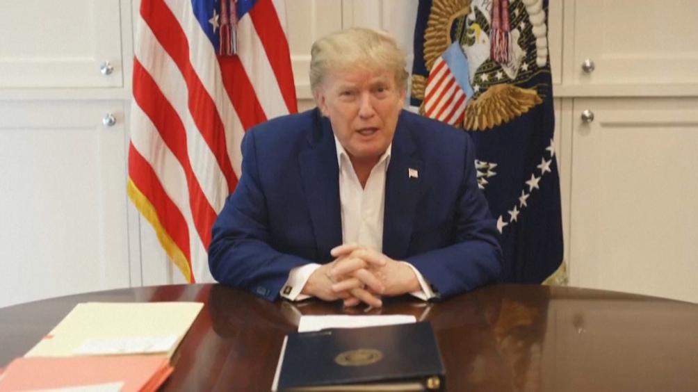 Trump permaneció internado tres días luego de un test de Covid positivo.
