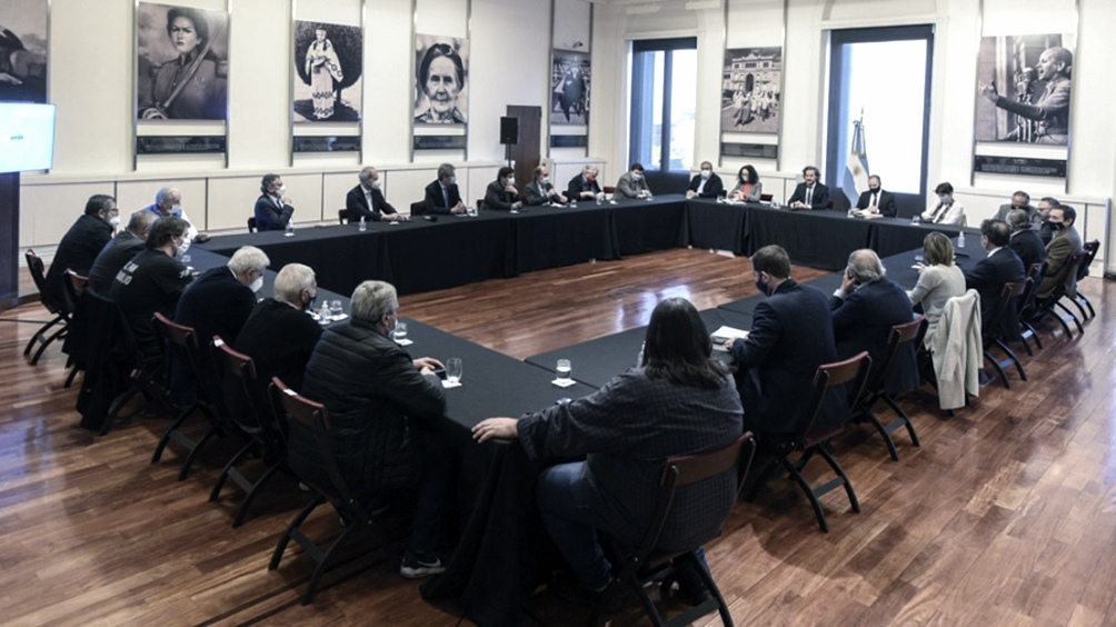 Otra de las reuniones de este año a la que el Gobierno convocó a empresarios y sindicalistas.