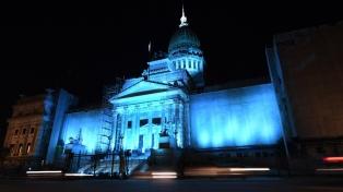 El Congreso se iluminó de turquesa por el Día Mundial de la Dislexia