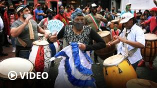 Afrodescendientes realizaron una llamada de candombe para visibilizar reclamos de igualdad