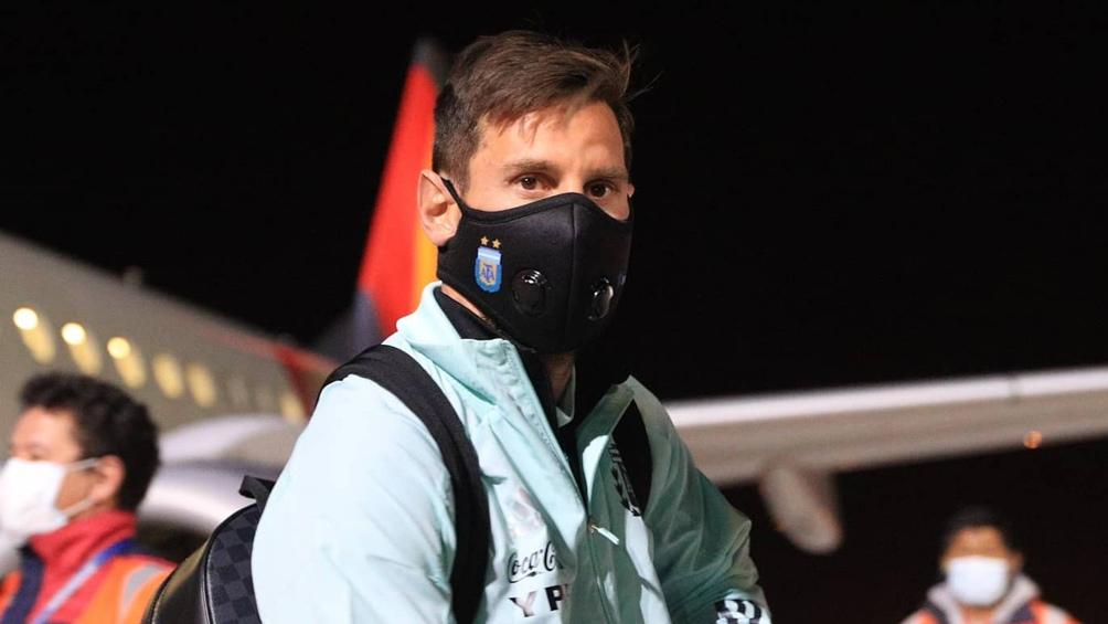 Messi arribó a España, tras su disputa de doble fecha de eliminatorias con Argentina (foto archivo)
