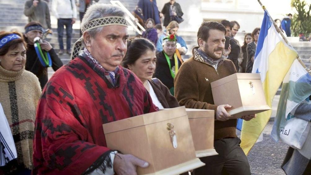 El pueblo mapuche logró que el Museo de La Plata devolviese restos de seis antepasados.