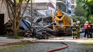 Dieron de alta a las cuatro personas internadas tras el derrumbe en Belgrano