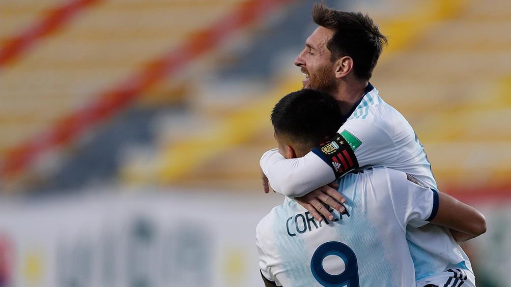 Messi celebró la doble victoria argentina en las eliminatorias