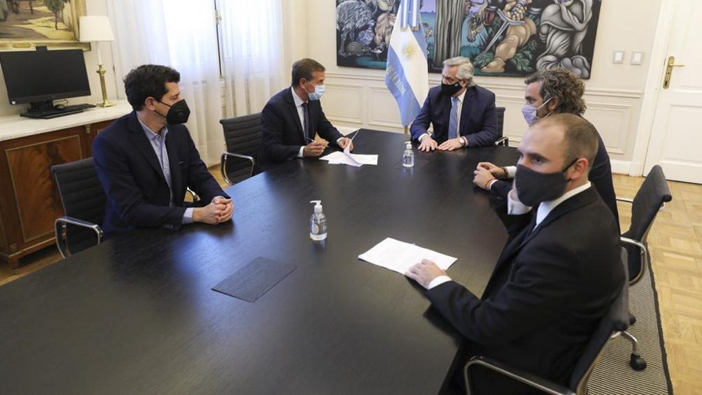 La reunión se llevó a cabo en la Casa Rosada