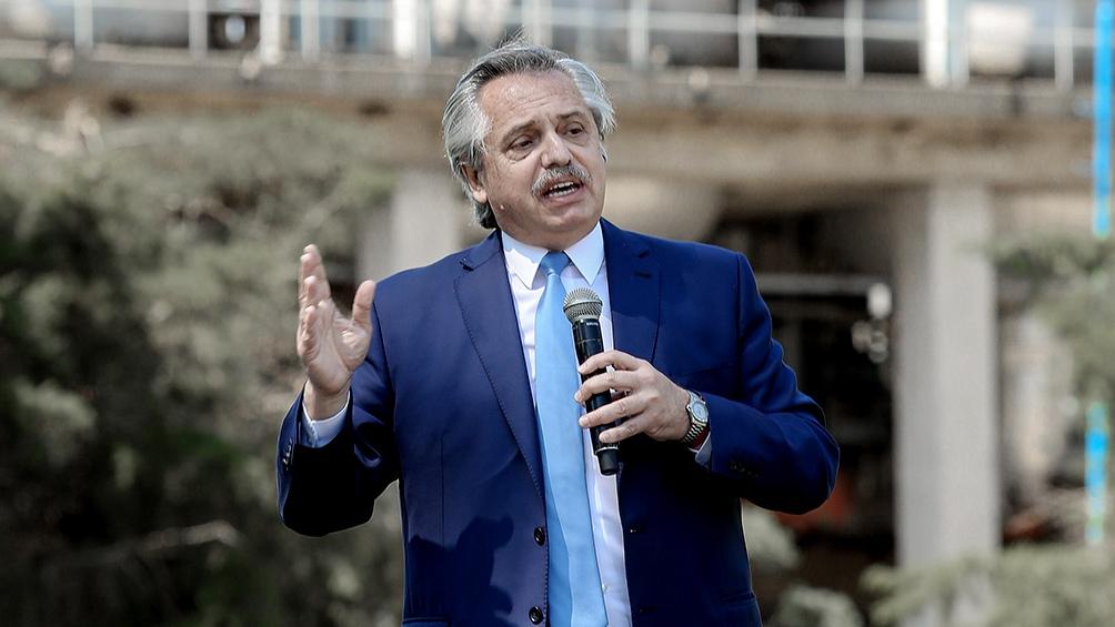 """Fernández: """"El Gobierno busca """"una Argentina que crezca, se desarrolle y exporte para conseguir los dólares""""."""