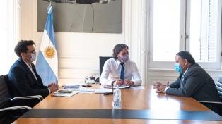 Cafiero y el gobernador Quintela analizaron la ampliación del parque eólico de La Rioja