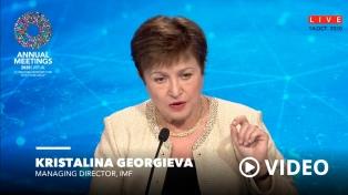 """Kristalina Georgieva: """"Queremos apoyar y ser aliados de la Argentina"""""""