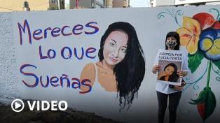 """""""A mi hija la dejaron tirada"""", dijo la madre de Lucía durante una marcha en San Miguel"""