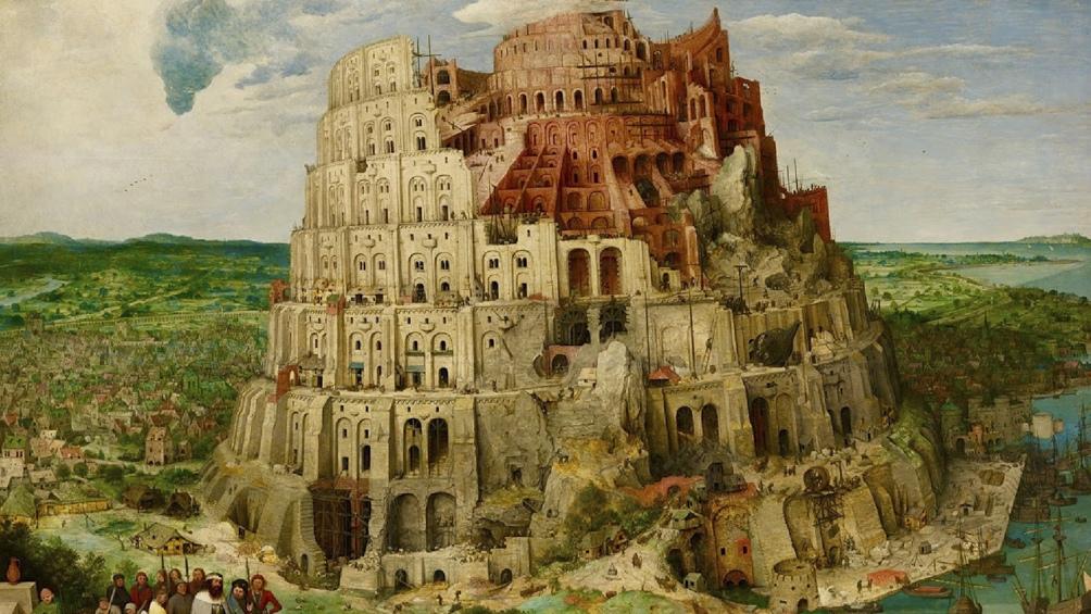 Una representación de Pieter Brueghel El Viejo de la Torre de Babel, considerada el inicio de las diferentes lenguas.