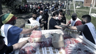 El Gobierno bonaerense continúa la asistencia a los desalojados del predio de Guernica