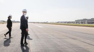 Meoni anticipó que el Aeroparque estará funcionando nuevamente entre febrero y marzo próximos