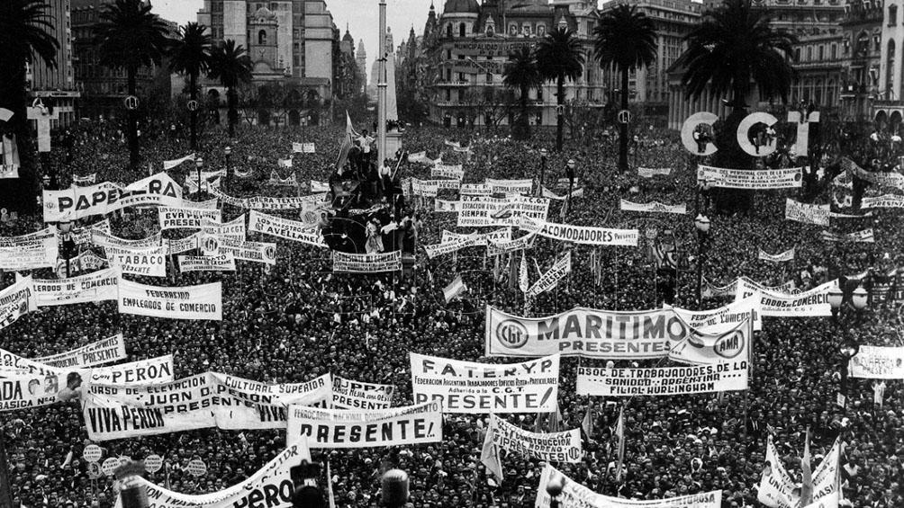 """Barry: """"El 17 de octubre de 1945 fue un hito fundacional que modificó la forma de hacer política en la Argentina""""."""