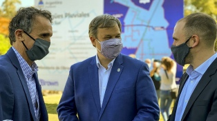 Katopodis y Guzmán participaron de la puesta en marcha de obras hidráulicas en Almirante Brown