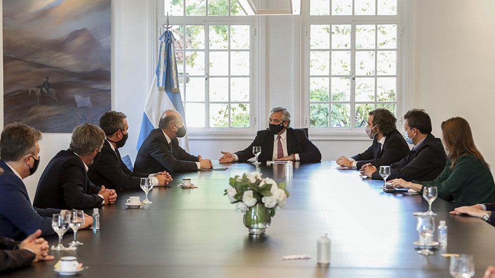 Firma del convenio entre el Gobierno nacional y la provincia de Santa Fe.