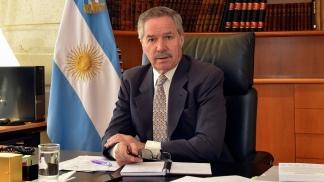 Felipe Solá recibió las cartas credenciales del embajador de Portugal, José Frederico Viola de Drummond Ludovice.