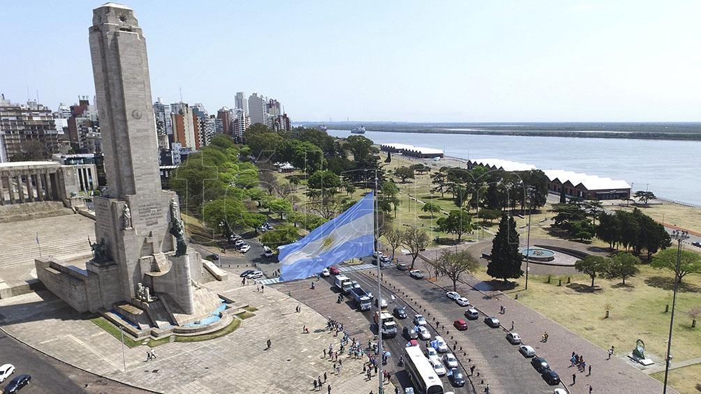 El Monumento a la Bandera, escenario de encuentro en Rosario.