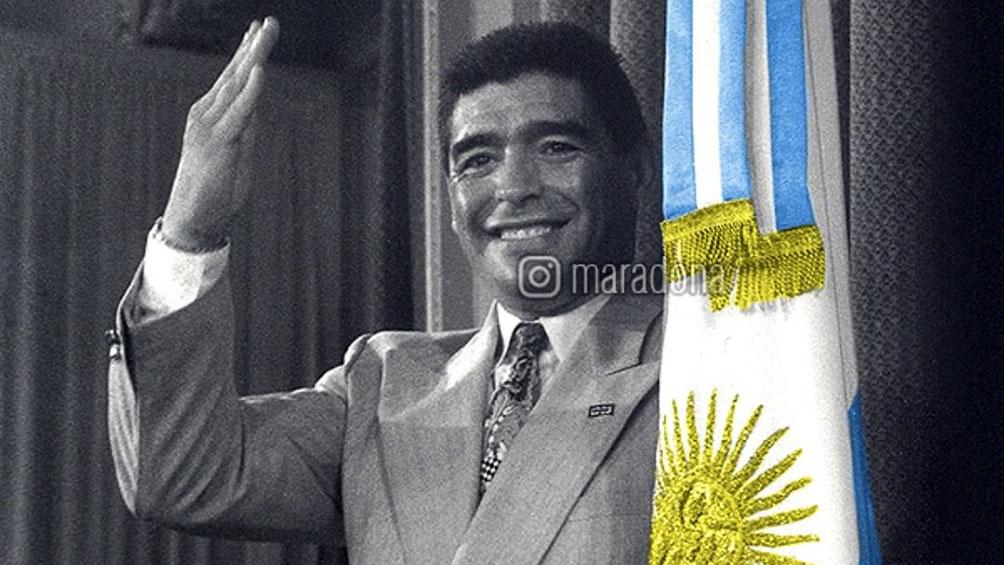 Maradona y la Cruz Roja se unen en una campaña solidaria